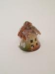 Сувенир - керамика, Маленький  колокольчик - домик № 14 - 165824