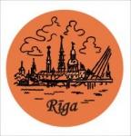 Suvenirs-magnets, keramika Riga 2-002