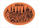 Suvenīrs-magnēts, keramika Rīga 2-019