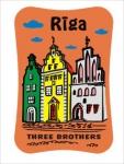 Suvenirs-magnets, keramika Riga 2-303