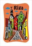 Suvenirs-magnets, keramika Riga 2-304