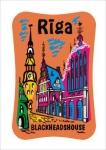 Suvenirs-magnets, keramika Riga 2-305