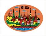 Suvenirs-magnets, keramika Riga 2-306