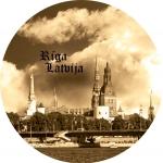 Suvenīrs-magnēts-Rīga 110(diam) 4 in 1