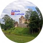 Suvenīrs-magnēts-Dobele 58(diam) metāls