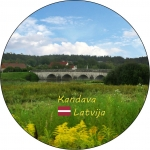 Suvenirs-magnets-Kandava 58(diam) metals
