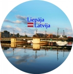 Suvenirs-magnets-Liepaja 58(diam) metals