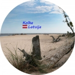 Suvenirs-magnets-Kolka 70(diam) vinils