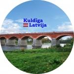 Suvenirs-magnets-Kuldiga 70(diam) vinils