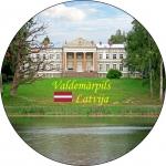 Suvenirs-magnets-Valdemarpils 70(diam) vinils