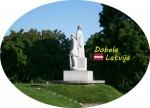 Suvenīrs-magnēts-Dobele 80x57 vinils