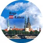 Suvenīrs-magnēts-Rīga 90(diam) 4 in 1
