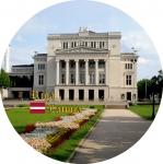 Suvenirs-magnets-Riga 90(diam) 4 in 1