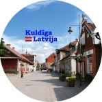 Suvenirs-magnets-Kuldiga 58(diam) metals