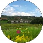 Suvenirs-magnets-Kandava 56(diam) piek.-attaisamais